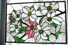 Dogwood Blossoms - Delphi Stained Glass