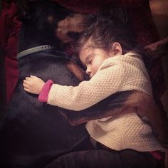They sleep together. | Community Post: The Friendship Between A Kid And Her Dog Will Melt Your Heart