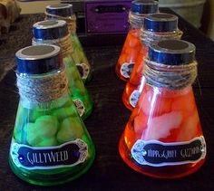 poca cosa: Sweet 16 Hogwarts Style (potions = gummy candies in liquid candy, licorice wands, parseltongue pops, etc.!)