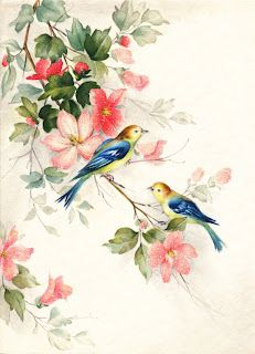 Printable - birds and blossoms