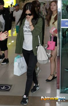 Naeun at airport