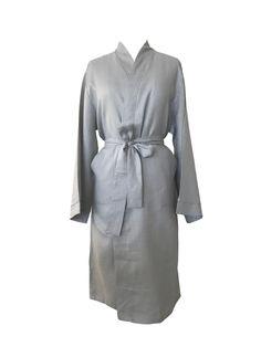 Jade and May Medium Weight Luxury Linen Kimono - Harbour Mist