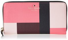 Amazon.com: kate spade new york Emma Lane Fabric Lacey Wallet, Pink Color block, One Size: Shoes
