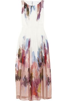 TIBI  Aurora printed silk-chiffon dress  $600