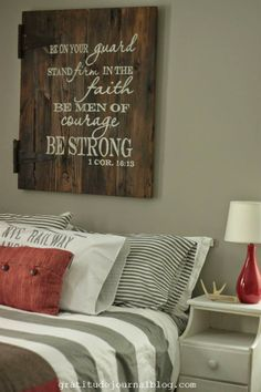 White Lace and Promises: Gray and Red Idea for Bedroom