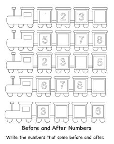 This page has a lot of free Missing number worksheet for and preschool teachers. Missing Number Worksheets, Preschool Number Worksheets, Numbers Kindergarten, Numbers Preschool, Learning Numbers, Preschool Printables, Preschool Math, Worksheets For Kids, Kindergarten Worksheets