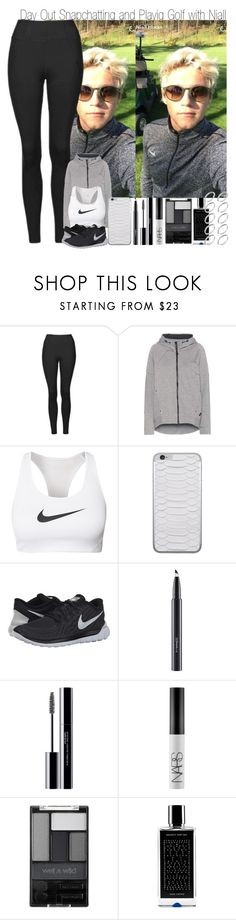 """""""Day Out Snapchatting and Playing Golf with Niall"""" by elise-22 ❤ liked on Polyvore featuring Topshop, NIKE, Jamie Clawson, MAC Cosmetics, shu uemura, NARS Cosmetics, Wet n Wild, Agonist and ASOS"""