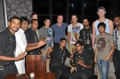 Team Delhi Daredevils & Sunrisers Hyderabad enjoyed their time cafe with our rocking staff at Hard Rock Cafe Hyderabad.