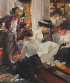 Shoe Shop, Elizabeth Sparhawk-Jones - love, love, love this painting (another I saw at Art Institute of Chicago)