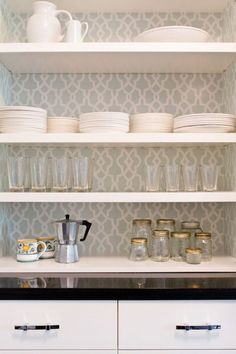 Five Ways to Customize Kitchen Cabinets with Colored Contact Paper