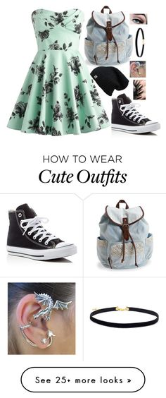 """""""Just An Outfit #2"""" by genesis6182 on Polyvore featuring Converse and Aéropostale"""