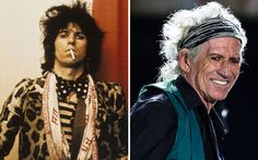 Keith Richards then and now