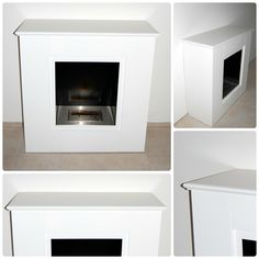 """""""FUSETTO"""": Wooden cover sided for fireplace floor with molded top made of mdf 20 mm thick lacquered white.The article can be completely customized in sizes, starting from the existing fireplace. The article does not include in the price the fireplace bioethanol.  Price (excluded shipping): 366 euro VAT included"""