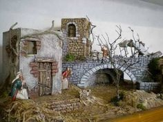 Resultado de imagen para case presepe palestinese Portal, Nativity Creche, Ceramic Houses, Christmas Villages, Stone Houses, Stop Motion, Bird Houses, Diorama, Concept Art