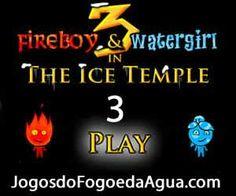 Jogo de Agua e Fogo 3 no Templo de Gelo