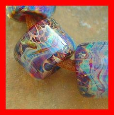 5FISH ~ Handmade Lampwork Borosilicate Glass Set Boro Beads ~ Tranquil Retreat | eBay