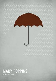 """""""Mary Poppins"""" by Christian Jackson.  Discover more minimalist art at www.imagekind.com!"""