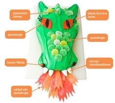 Dragon Birthday Cake- Adorable, but I'm not sure I'm crafty enough.
