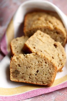 Peanut Butter Banana Bread Recipe (uses peanut butter instead of butter) - quick bread recipe - no yeast