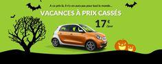Campagne publicité halloween location de voiture en Corse  #webdesign #advertising #webmarketing #rental #car #halloween