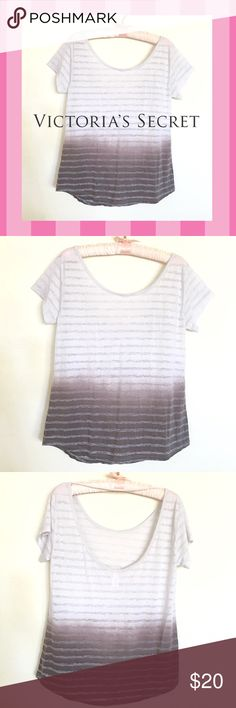 Victoria's Secret Scoopback Burnout Top Super sexy and perfect for warm summer days. Soft burnout done in a stripe ombré, scoop back and a slight hi-lo hem. So nice it's like New! Victoria's Secret Tops