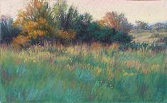 Autumn Light by Jeri Salter Pastel ~ x Pastel Landscape, Abstract Landscape Painting, Watercolor Landscape, Landscape Art, Landscape Paintings, Pastel Artwork, Oil Pastel Art, Pastel Drawing, Oil Pastels