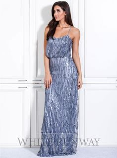 Reagan Dress. A stunning full length dress by Le Marais. Perfect for formals, black tie events and wedding guests. A flattering style with a loose fit bodice and sequin beaded detailing throughout.