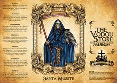 14-Day Candle Label - Santa Muerte (Blue)