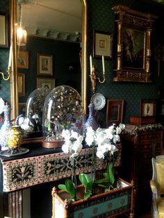 The mantle in the boudoir of Gustave Moreau.  Musée Gustave Moreau, Paris