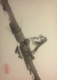 Frog. Sumi- e. YJP©groningen