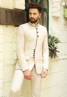 Off White Color Impressive Mens Jodhpuri Suits Online India Mens Indian Wear, Indian Groom Wear, Indian Men Fashion, Mens Fashion Suits, African Fashion, Wedding Dresses Men Indian, Wedding Dress Men, Wedding Men, Wedding Suits