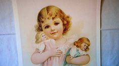 A personal favorite from my Etsy shop https://www.etsy.com/listing/489079265/vintage-the-three-dolls-giclee-spray