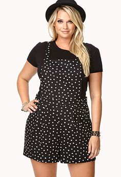 Retro Polka Dot Overall Shorts | FOREVER21 OMG!! This is so cute!!!
