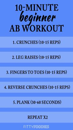Looking for a quick, at-home workout to strengthen you core? This beginner ab wo… Looking for a quick, at-home workout to strengthen you core? This beginner ab workout will get those tummy muscles poppin' in 10 minutes! 10 Minute Ab Workout, 10 Minute Abs, Beginner Workout At Home, At Home Workout Plan, Workout For Beginners, At Home Workouts, Home Workout Routines, Quick Ab Workout, Sixpack Abs Workout