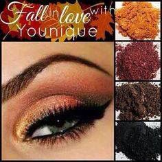 Get your fall look with younique's amazing pigment and cream shadows!  longlovelylash.net