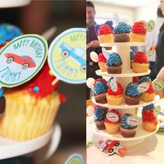 I love to see my designs in use! The Cars & Trucks Cupcake Rounds are such a lovely touch at this little boy's birthday party! 🚗🚙🚚  #birthday #cupcakes #cupcakerounds #carsandtrucks #birthdayboy #partydecorations #etsykids #etsy #etsyelite #etsyseller #diy #kidsparty