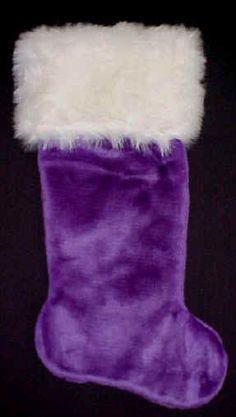 purple x mas stocking - Purple Christmas Stocking