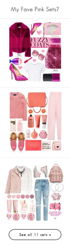 """""""My Fave Pink Sets💖"""" by themarshmallowmadness ❤ liked on Polyvore featuring Dries Van Noten, Topshop, RE/DONE, Moschino, NARS Cosmetics, Giuseppe Zanotti, Chiara Ferragni, Gucci, Ralph Lauren and Joseph"""