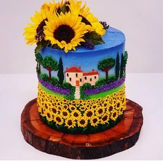 """2,347 curtidas, 10 comentários - @cassianedorigon (@ideiasdebolosefestas) no Instagram: """"Que trabalho lindo. Eu sou louca por girassóis. Amei o trabalho de @cakesofyourdreams…"""" Cake Decorating Videos, Cake Decorating Techniques, Cookie Decorating, Sunflower Cakes, Love Ice Cream, Fashion Cakes, Pretty Cakes, Cake Art, Happy Mothers Day"""