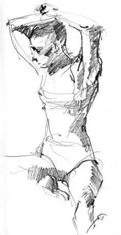 6B pencil in Stillman & Birn Alpha Series sketchbook, 8 1/2 x 11. 4 minute pose.  http://drawingthemotmot.files.wordpress.com/2013/02/sara2.jpg