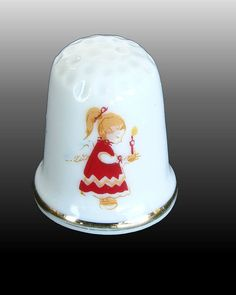 Vintage Little Angel Thimble by InspirationMemories on Etsy, $5.00