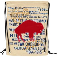 Buffalo Bills Historic Canvas Drawstring Backpack #ad