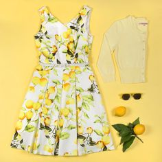 Sunshine Girl Dress | Lemons | Flatlay | Review Australia Dress Outfits, Cute Outfits, Beautiful Outfits, Beautiful Clothes, Girls Dresses, Summer Dresses, Review Fashion, Girls Wardrobe, Online Dress Shopping