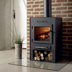 The Westfire Stoves are clean and functional, cool for minimalists.