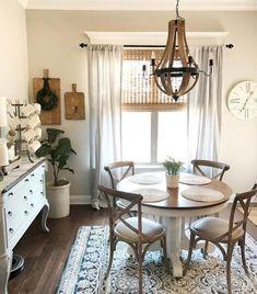 30 Amazing Modern Farmhouse Dining Room Decor Ideas Furniture Sets Wall