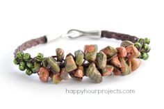 Braided Gemstone and Bead Cluster Bracelet Tutorial - The Beading Gem's Journal