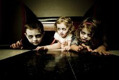 "making into a card ~ ""Happy Halloween from our little monsters"""
