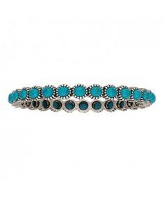 Rock 47 Rocks and Roll Blue Pebble Bangle Bracelet
