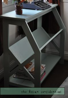 Free Woodworking Plans to Build a V Frame Library Bookshelves