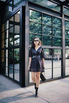 UPDATE YOUR WARDROBE WITH GLITTER WRAP DRESS - Olivia Lazuardy